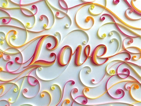colorful quilled typography by sabeena karnik colossal