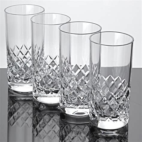 Wasserglaser Kristall by 4 Becher Gl 228 Ser Waffel Schliff Kristall Saftgl 228 Ser