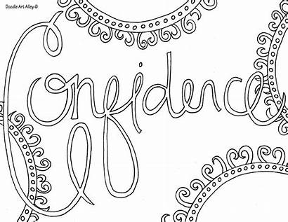 Coloring Word Pages Doodle Alley Confidence
