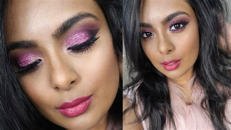 valentines day sparkly pink makeup sexy glamorous date
