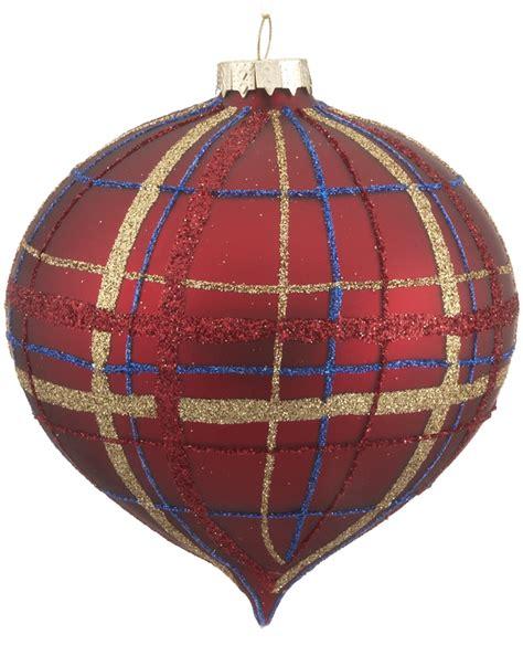 red plaid ornament christmas ornament traditional