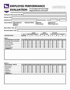 Employee performance evaluation form https wwwyumpucom for Performance review template doc
