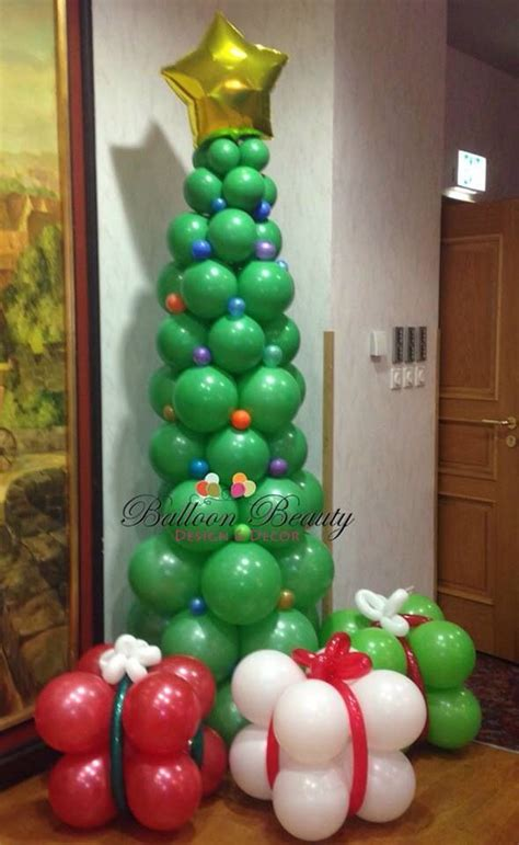 christmas tree balloon decor balloon decor pinterest