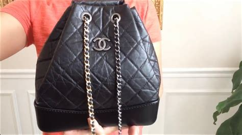 chanel gabrielle backpack  ways  carry chanel lv youtube