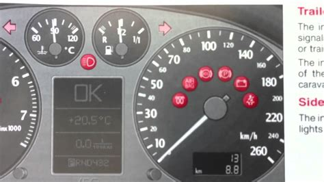 Audi A6 C5 Dashboard Warning Lights & Symbols What They