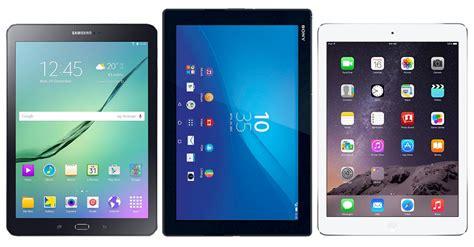 samsung tablet vergleich vergleich galaxy tab s2 9 7 vs air 2 xperia z4 tablet
