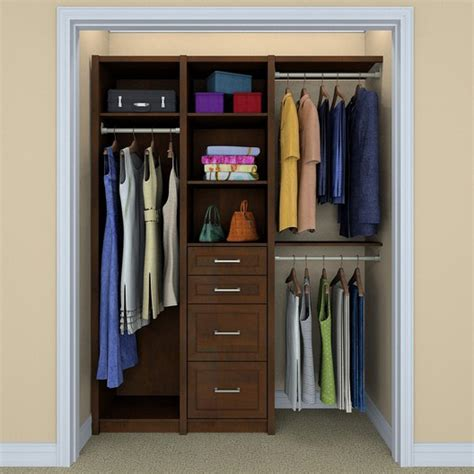 Wood Closet Organizer Kits by Closetmaid 6106440 Spacecreations 121 Quot Wood