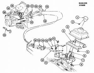 Chevrolet Cavalier Cable  Transmission Control Cable
