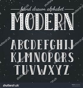 hand drawn alphabet uppercase letters symbols stock vector With blackboard with white removable letters