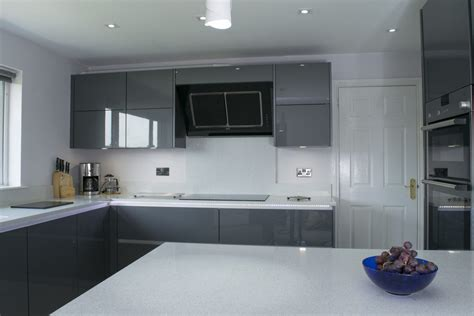 high gloss or semi gloss for kitchen cabinets contemporary grey high gloss kitchen belfast stormer 9674