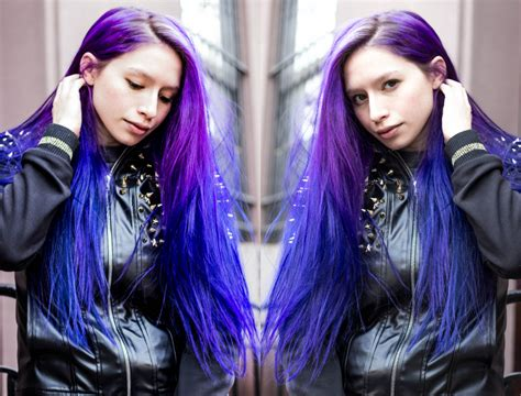 Mox Lees Blue And Purple Hair Hair Colors Ideas