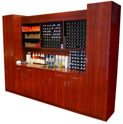 color bar cabinet set design  mfg salon equipment