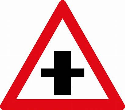 Crossroad Road Sign Traffic Warning Signs Priority