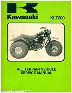 1983 Kawasaki Klt200 Atc Three Wheeler Service Manual