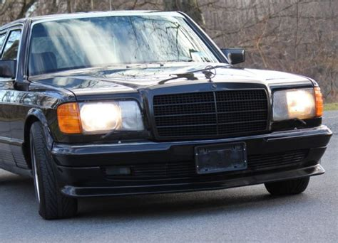 Runs, drives, shifts and stops great. 1984 Mercedes 500 SEL w126 Full AMG PreMerger Blk/Blk 1 ...