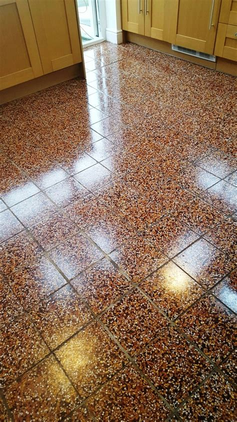 Cleaning Terrazzo Floor Tiles by Colourful Terrazzo Tiles Cleaned And Sealed In Bosley