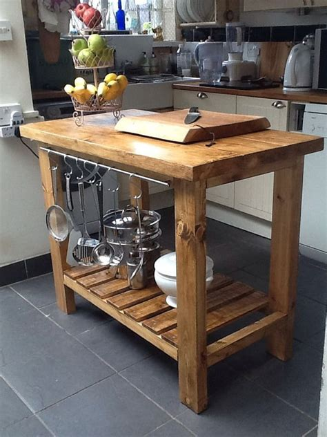 wooden kitchen islands handmade rustic kitchen island butchers block delivery charge