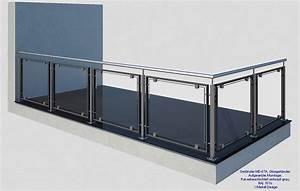 Balkongeländer Glas Anthrazit : fertige balkon glasgel nder ~ Michelbontemps.com Haus und Dekorationen