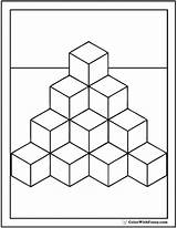 Coloring Cubes Pages Cube Shape Many Template Blocks Printable Square Squares Colorwithfuzzy sketch template