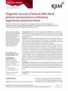 Pdf  Diagnostic Accuracy Of Manual Office Blood Pressure