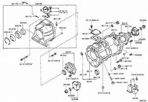 Toyota T100 Retainer Sub-assembly  T  Transmission  Transfer  Driveline