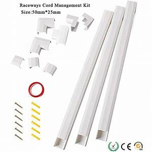 Cable Management Channel Concealer Cord Cover Wire Hider