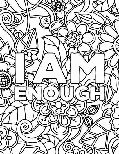 Coloring Pages Self Affirmations Adult Esteem Colouring