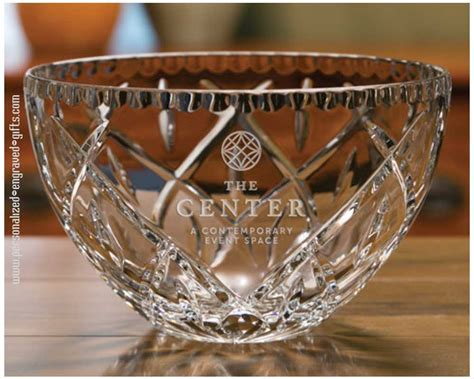 personalized decorative edge crystal bowl hermes