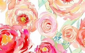Watercolor Peony Wallpaper WallpaperSafari
