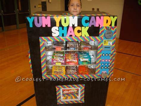 homemade vending machine costume   dispenses candy