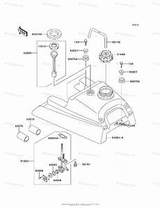 Kawasaki Atv 2008 Oem Parts Diagram For Fuel Tank