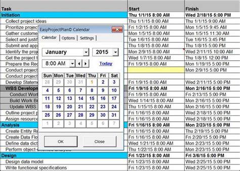 easyprojectplanc screenshots excel gantt chart template