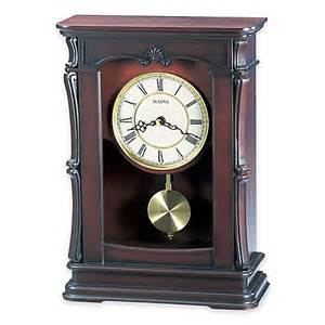 bulova abbeville table clock in walnut bed bath beyond