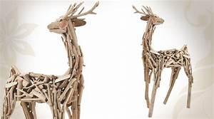 Animaux En Bois Décoration : d coration en bois flott le cerf ~ Teatrodelosmanantiales.com Idées de Décoration