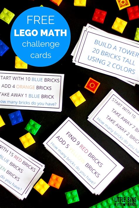 lego math challenge cards  activities