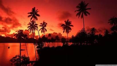 Fiji Islands Island Wallpapers Desktop Matagi Sunset
