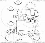 Ice Cream Coloring Outline Illustration Clip Royalty Rf Clipart Bnp Studio Regarding Notes sketch template