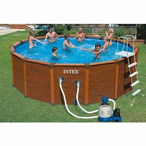 Piscine Intex Hors Sol : piscine hors sol sequoia spirit aspect bois ~ Dailycaller-alerts.com Idées de Décoration