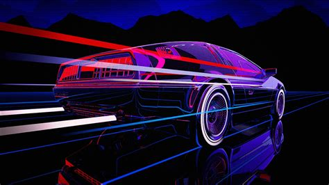 80s Neon Car Wallpaper by 80s Neon Wallpapers 74 Background Pictures