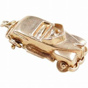 Charmes Automobile : vintage 14k gold convertible car charm with moving wheels from arnoldjewelers on ruby lane ~ Gottalentnigeria.com Avis de Voitures
