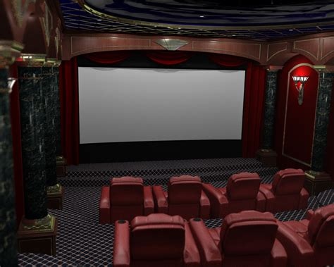 home theatre interiors render 3d home theater renderings home theater