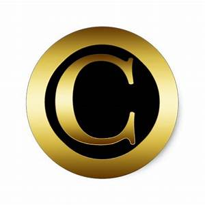 gold monogram letter c classic round sticker zazzle With letter c stickers