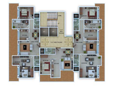 rendered floor plans  isometric  atul kudchadker