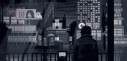 Pixel Rain Raining Gifs Pixelart Future