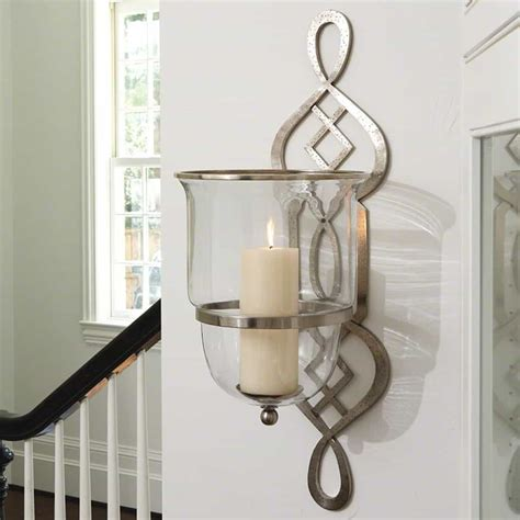 Sconces On Wall by Glass Sconces Imax Large Hurricane Candle Wall Sconce