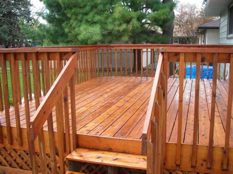 deck stain coverage deck fence staining photos kansas city commercial