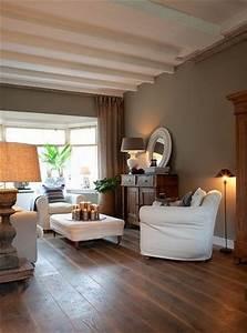 salon chaleureux taupe et bois With couleur chaleureuse pour salon