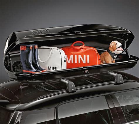 coffre de toit 320 l mini noir pour tous les syst 232 mes de portage min sans racing stripes
