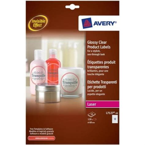 avery glossy clear  labels