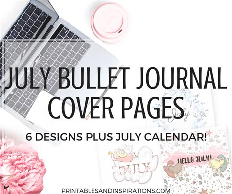july bullet journal cover page ideas printables printables